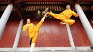 shaolin Flying kick training