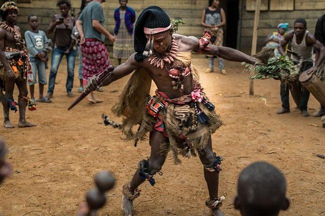 A Sunrise dance party in Gabon.