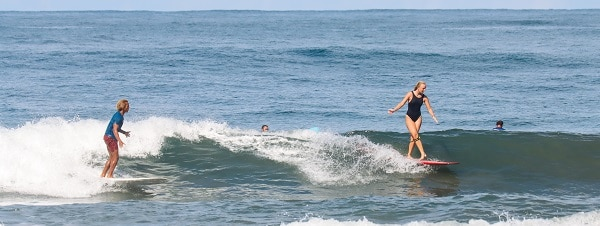 Learning to surf with Tommy Potts