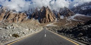 The Pakistan section of the Karakoram Highway