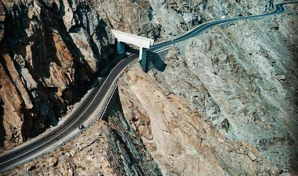 Overview of highway connecting China and Pakistan