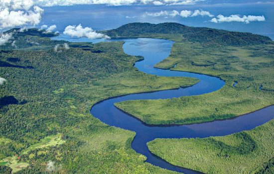Aerial view of Corcovado National Park