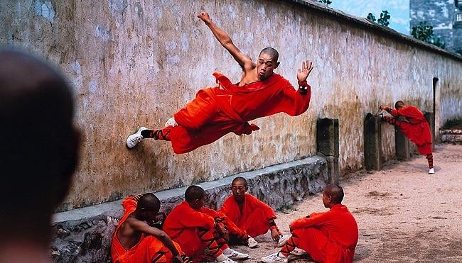 Shaolin training wall run